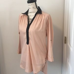 260- Truth small pink shirt with black trim